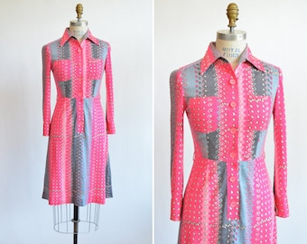 Vintage 1970s LUISA designer wool dress