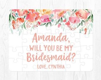 Bridesmaid Proposal Gift Ask Bridesmaid Gift Will You Be My Bridesmaid Puzzle Proposal Ask Bridesmaid Gift Bridesmaid Proposal Puzzle Peach