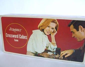 VINTAGE Scrabble Crossword Cubes Game, Complete Set, 1960s