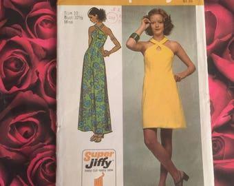 70's Vintage Simplicity Pattern #5014 Size Miss 10