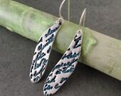 Dragonfly wing earring, handmade eco friendly fine silver jewelry-OOAK Poetry in Flight