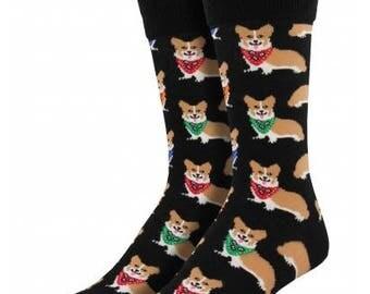 Mens Corgi Dog Socks