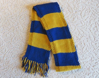Harry Potter First Year Scarf Ravenclaw Book Colors School Colors Knit Scarf