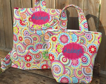 Personalized Toddler Bookbag and Lunch Pail Set