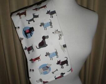 Kitchen cream cotton  tea towel dog print  NEW Great for kitchen tea bridal showers