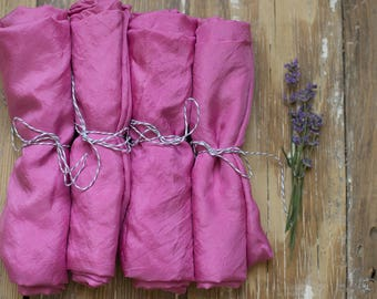 Naturally dyed playsilk {cochineal}