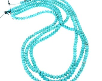 Summer Sale : ) MEXICAN TURQUOISE Beads 5mm Glassy Blue AAA NewWorldGems