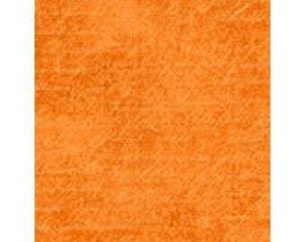 Under a Spell from Wilmington Prints - Full or Half Yard Orange Cursive Texture - Halloween Blender