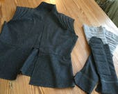 Scavenger Rey Wool Vest and Gauntlets - Ready to Ship! Star Wars Cosplay Perfect - Women's Size 10/12 - Medium