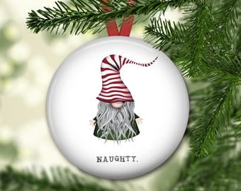 Christmas gnome ornament for tree - farmhouse Christmas ornament - gnome decorations - modern farmhouse decor - ORN-56