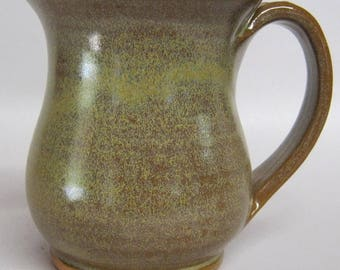 Handmade Pottery Coffee Cup, holds 10 ounces, tea cup, fits 1 cup coffee makers