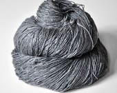 Gray which must not be named - Tussah Silk Fingering Yarn
