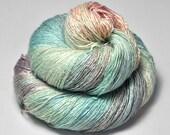 Dancing nymphs OOAK - Tussah Silk Lace Yarn - Hand Dyed Yarn - handgefärbte Wolle - DyeForYarn