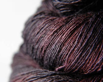 Chocolate cosmos ceasing to be - Tussah Silk Lace Yarn