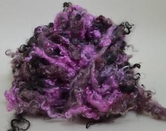 Lockspun Art Yarn - Kid Mohair Pink, Burgundy, and Black
