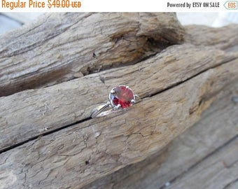 ON SALE Beautiful garnet ring handmade in sterling silver 925
