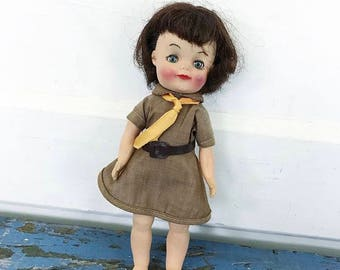 Vintage Brownie Doll, Effanbee Doll, Vintage Doll, Girl Scout