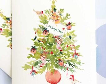 Personalized Christmas Card, Custom Christmas Card, Christmas Card Set, Set of 10 cards