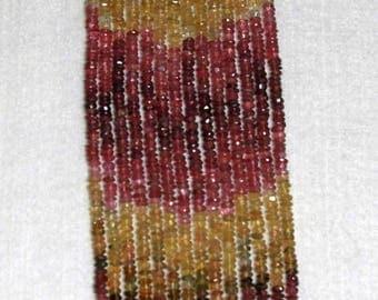 Tourmaline, Multicolor Rondelle, Faceted Rondelle, Tourmaline Bead, Semi Precious, Gemstone, Translucent, Sparkle, Full Strand, No2, 4.5mm