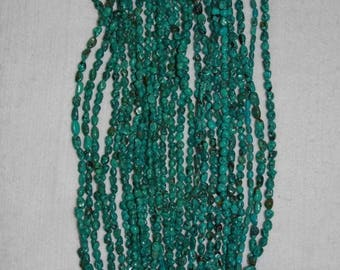 Turquoise, Natural Turquoise, Turquoise Pebbles, Turquoise Chips, Blue Green Turquoise, Natural Stone, Full Strand, 6-9 mm, AdrianasBeads