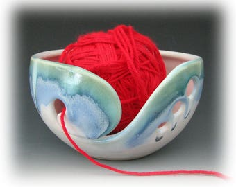 KNITTING BOWL #2 - Yarn Bowl - Ceramic Knitting Bowl - Ceramic Yarn Bowl - Pottery Knitting Bowl - Handmade Knitting Bowl - For Knitters