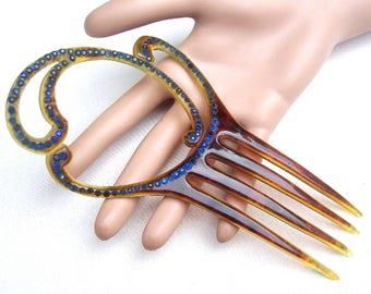 Art Deco comb openwork design hair accessory hair ornament hair pin hair pick hair fork decorative comb