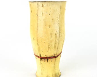 Tall Tumbler with Red Stripe