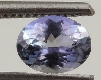 1.45 cts Flawless brilliant tanzanite faceted oval cut Tanzania