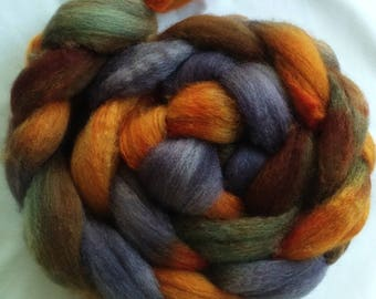 "Our Special Blend Hand Dyed BFL/Silk 4 Oz ""Canyon Shadows"""