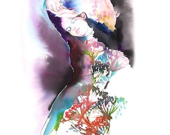 Watercolor Fashion Print, Fashion illustration, Fashion Poster, Fashion Wall Art, Fashion art Print, Collect Art