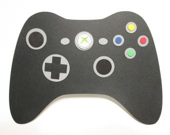 XBOX GAME CONTROLLER Shaped Birthday Card, video game card, gamer card