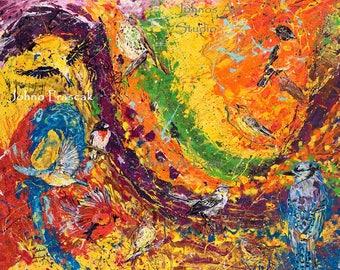 Bird wall art, Songbirds, songbird art, wildlife art, Pittsburgh artist, by Johno Prascak, Johnos Art Studio