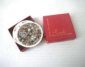 Steampunk Watch Parts Round Playing Cards Waddingtons Rondo