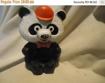 Back Open Sale Vintage Avon Plastic Randy Pandy Panda Bear Soap Dish, collectable