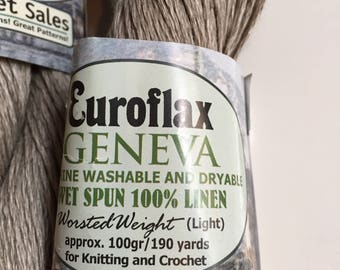 Euroflax Geneva 100% Linen Yarn Worsted Weight