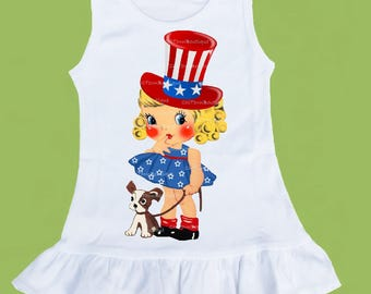 4th of July dress, Independence Day, Stars and Stripes, Girls summer dress, ruffle dress, Red White Blue Original ChiTownBoutique