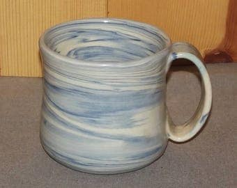 Original Hand Thrown Pottery Coffee Cup using colored clays..... Agateware 16 oz