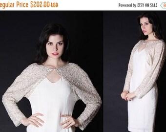 On SALE 35% Off - Vintage Wedding Dress - Beaded Wedding Dress - Lace Wedding Dress - Short Wedding Dress - 2692