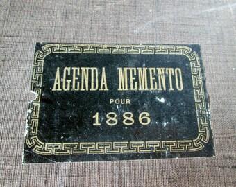 Antique French Ledger 1886