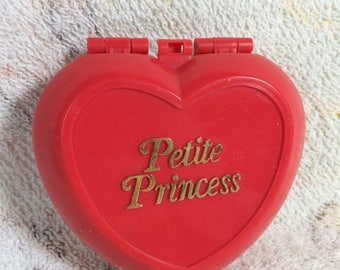 20% SALE 90s Petite Princess Polly Pocket Knock off Red Heart Compact No Figures Included
