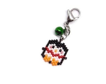 ON SALE Penguin Charm - Red Garland - Green Bell | Includes PDF Bead Pattern Link (4 Designs)