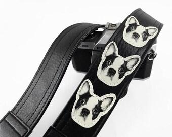French Bulldog Camera Strap, Dog Camera Strap