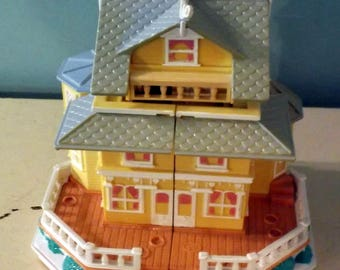 vintage 1995 Bluebird Polly Pocket Pink Cottage Palace England Victorian House