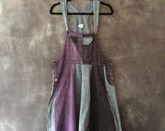 90s Indian Cotton Overalls Harem Pants Hippy Boho Woven Cotton Jumper Onesies Ladies Size S M L