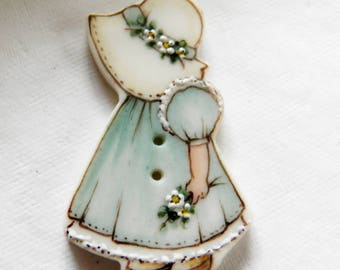 Sunbonnet Sue Button