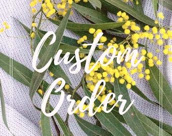 Custom listing for Olivia - Handmade by Alice!