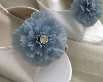 Wedding Shoes - Wedding Shoe Clips - Something Blue Shoe Clips - Vintage Wedding Shoes - Vintage Wedding Shoe Clips - Vintage Wedding Shoes