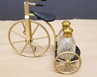 Metal Tricycle Salt and Pepper Shakers