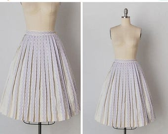 30% OFF SALE vintage 1950s skirt / 1950s pleated skirt / Bobbie Brooks skirt / La Lavanda skirt