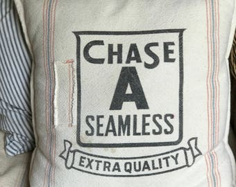 Grain Sack Pillow Cover Chase Seamless by Gathered Comforts